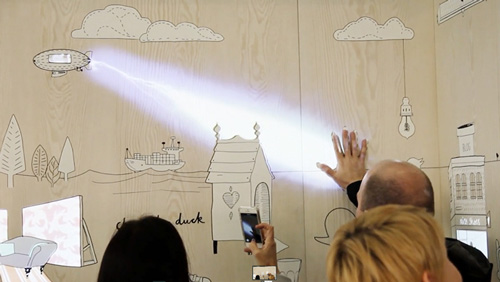 『光雕藝術』讓變得生動活潑,伸手接觸,立刻顯示更深層細節,讓廣告變成遊戲。