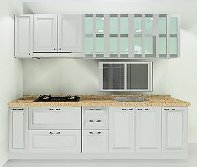 九十度廚具與系統櫃款式多樣。