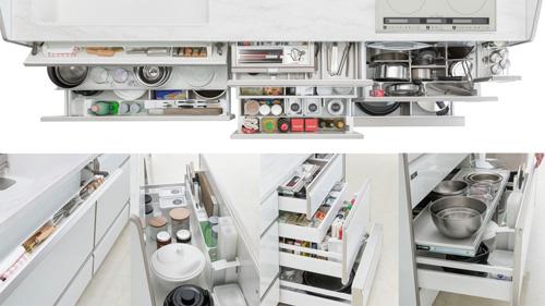超實用的多層次收納抽屜,無論外抽內抽,TAKARA廚具都能收好收滿!
