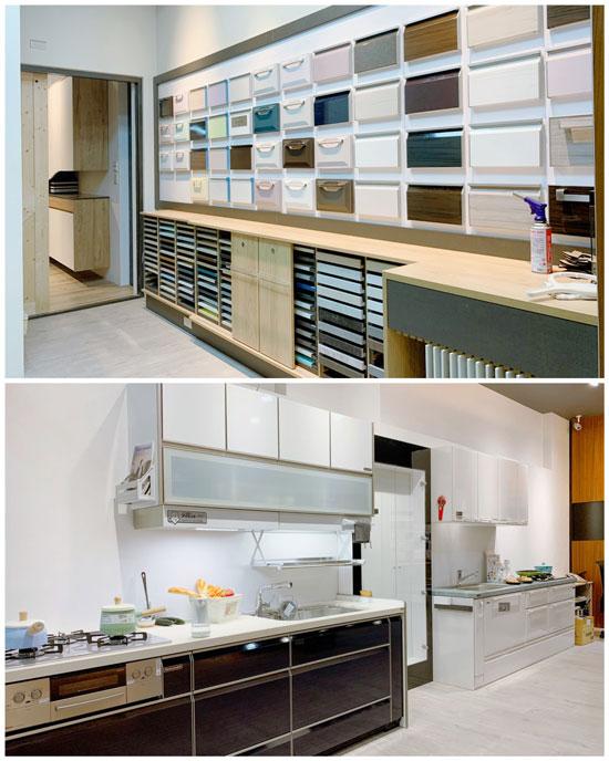 博登名廚新址展示系統櫃設計及元素與廚具配件。