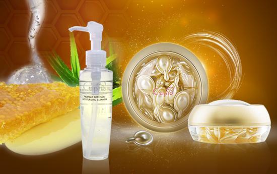 採用最高規格原料生產的EGF逆時膠囊、蜂膠洗面乳,都是值得推薦MIT美容保養品。