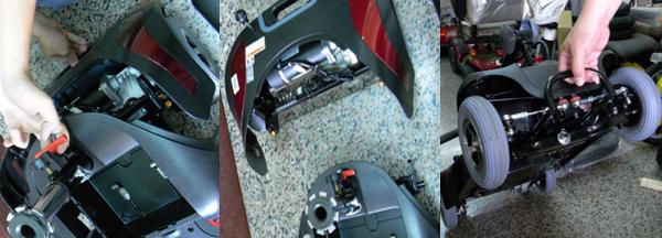 拉起卡榫,即可輕鬆拆解,車頭設計拉桿可以拉著走。