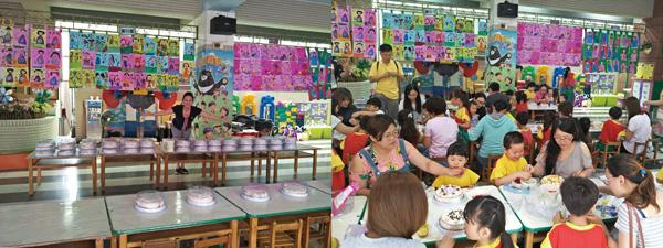 「母親節幸福手作蛋糕活動」參與的家長相當多,165個蛋糕開心DIY。