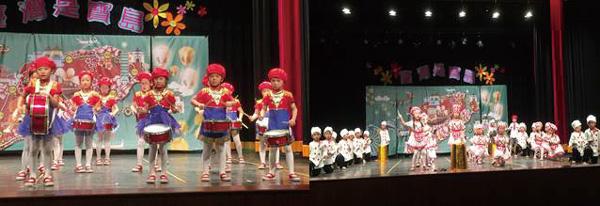 抑揚頓挫的節奏讓節目更有看頭,孩子帶來精彩鼓藝表演與「食尚玩家」美食秀。