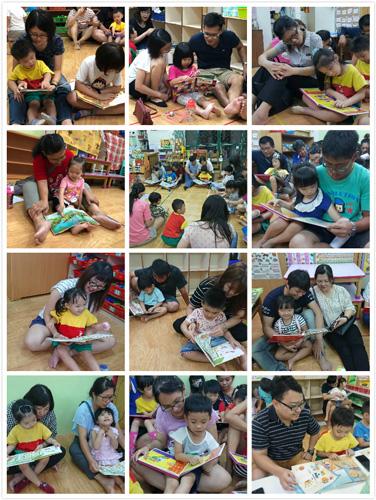 乖寶貝幼兒園九月份親師座談以「親子共讀快樂閱讀」為主題,在爸爸媽媽的陪伴下,與孩子閱讀的美好緣份就此展開。