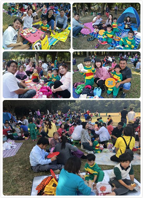 坐好坐滿野餐趣!乖寶貝親子軍團現身「高雄都會公園」大草原。