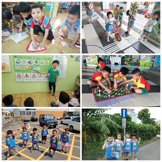 乖寶貝幼兒園帶著一群孩子在校內情境模擬、校外實地體驗。