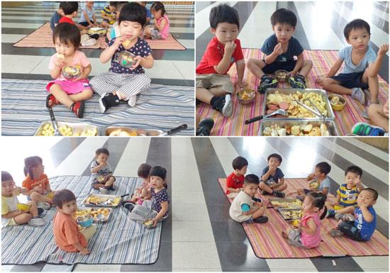 幼幼班野餐點心看起來相當可口,吃進嘴裡更讓人開心。