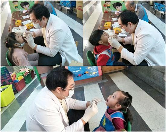 認真刷牙護好牙!乖寶貝孩子不怕生、不怕看牙。