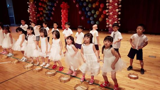 高雄楠梓區童心園幼兒園孩子表演型態多樣,與會來賓都覺得很驚喜!