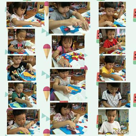 八月八日父親節,童心園幼兒園引導孩子學習動手自製卡片送給爸爸。