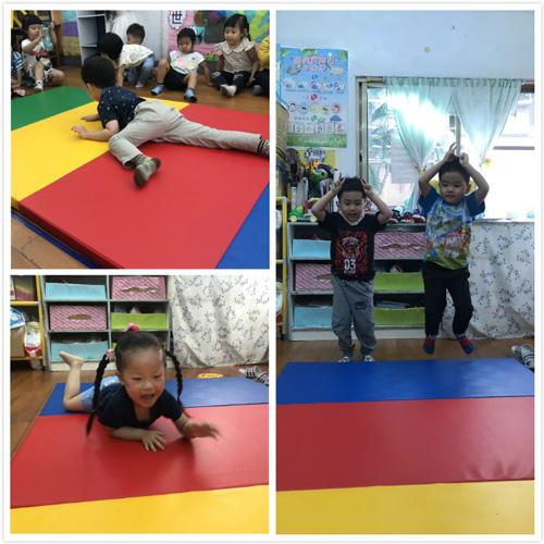 軟墊可方便幼兒進行大肌肉肢體活動時,也能防止身體受傷!