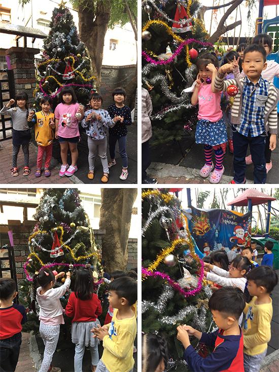 裝飾聖誕樹是幼兒園孩子最喜歡的事啦!