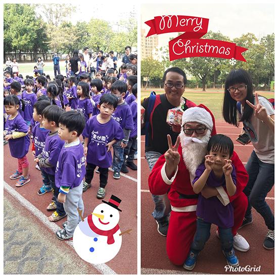 雖然一年只能見到一次「聖誕老公公」,但孩子可是非常愛他喲。