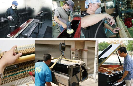 中古鋼琴整修過程需歷經多道工序,讓二手琴風華再現,才能交付到客戶手中!