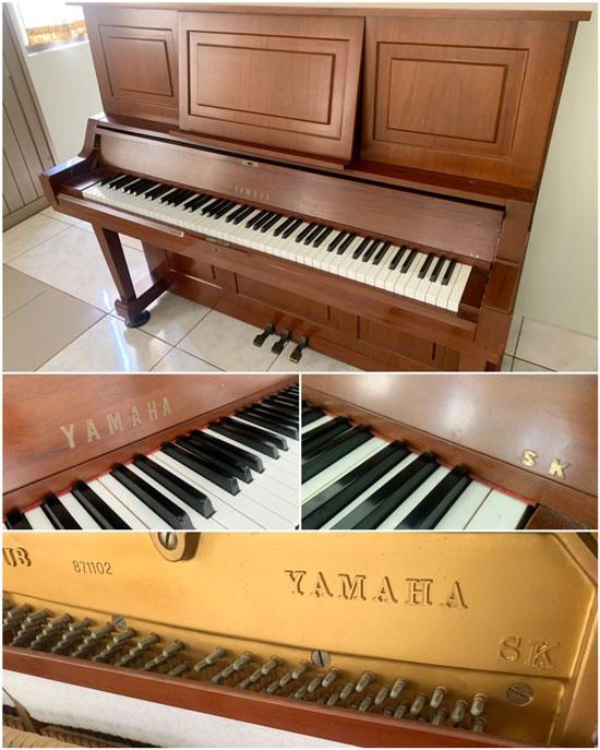 注意!標示SK、或SHOKAI等字樣,都是仿冒YAMAHA鋼琴的假貨。
