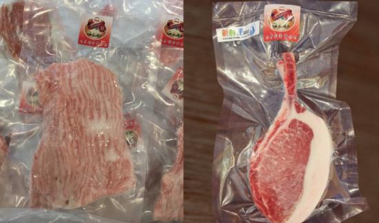 匈牙利綿羊豬松阪肉、匈牙利綿羊豬法式帶骨里肌豬排,肉質滑嫩鮮美。