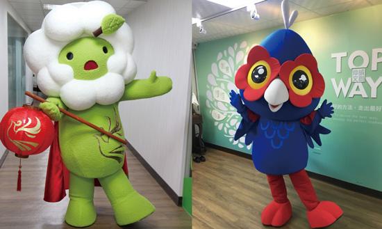 「仲威文創」奠定各界好口碑,連續2017、2018二年承接燈會吉祥物人偶製作。