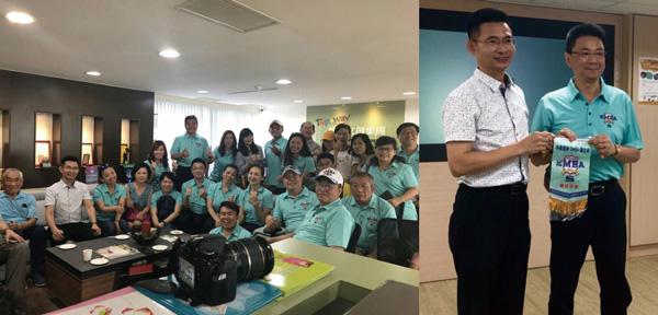 「中華海峽兩岸EMBA南區聯合分會」致贈錦旗表達感謝,期盼藉此交流,帶動各界未來更多的合作機會。