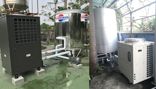 自然風熱泵熱水器符合游泳池大水量需求,放置於室內、室外皆合適。