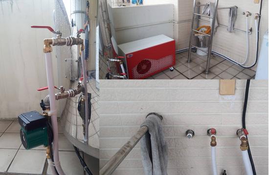 加裝加壓馬達,熱泵水量更大更穩定。