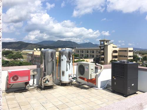 自然風空氣能熱水器是民宿最佳節能設備。