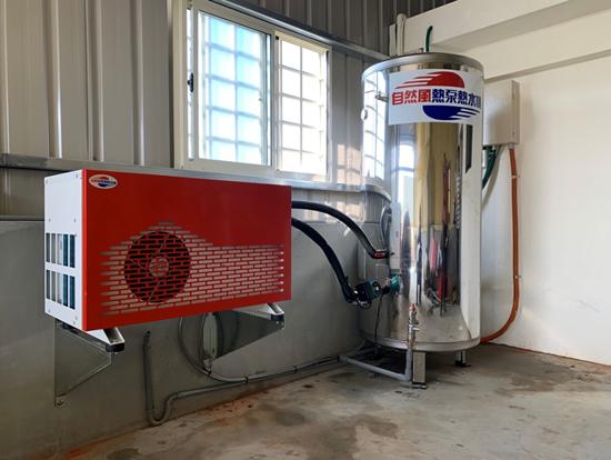 自然風熱泵主機以A架離地懸空,不占空間、更好整理。