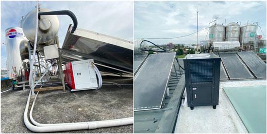 熱泵使用空間比太陽能熱水器更有彈性!