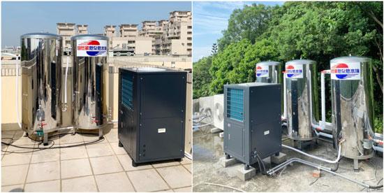 自然風推出三噸熱泵熱水器,在民宿市場的反應相當好。