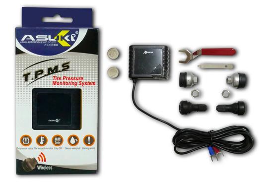 振昌機車材料推薦ASUK智慧型無線藍牙胎壓偵測器,能提醒車主檢查輪胎,確保行車安全。