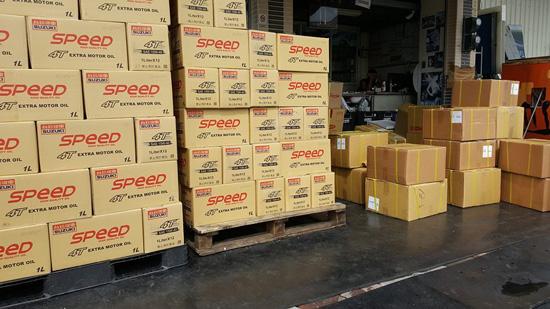 振昌每日都要整理好幾批貨品,接著就是快速送達南部地區機車行。